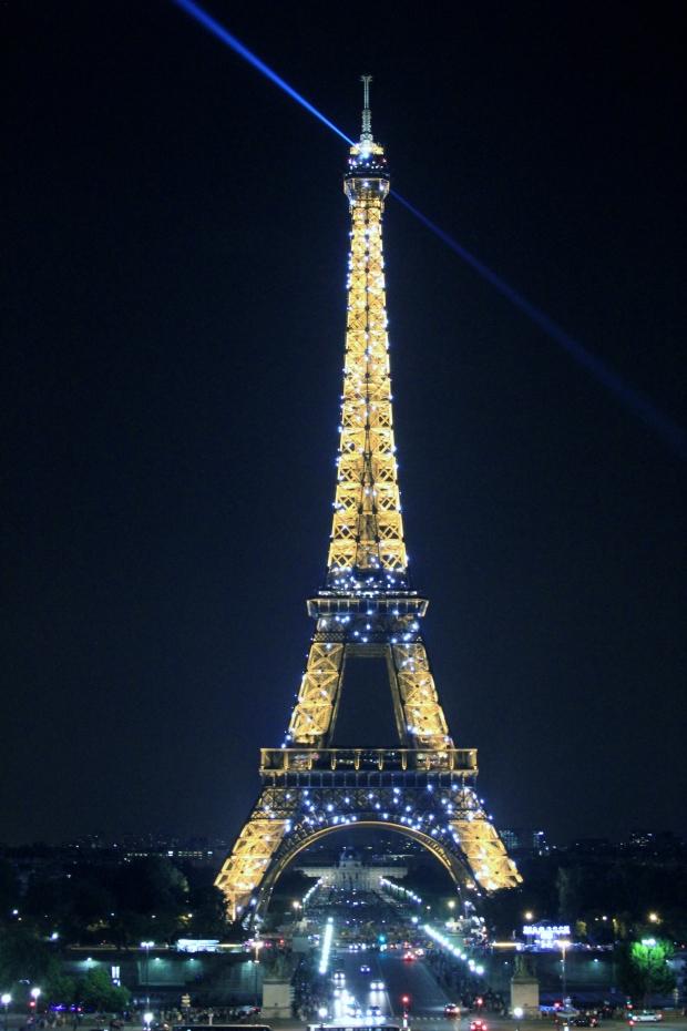 Eiffel Tower Light Show - The Wishing Tree Blog