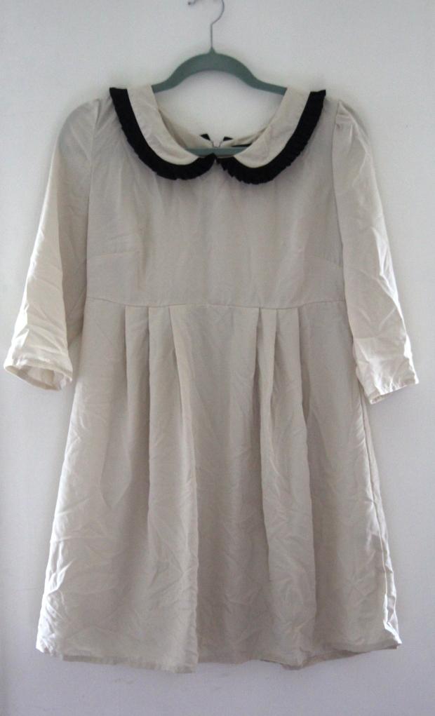 Cream Topshop Peter Pan Collar Dress - The Wishing Tree