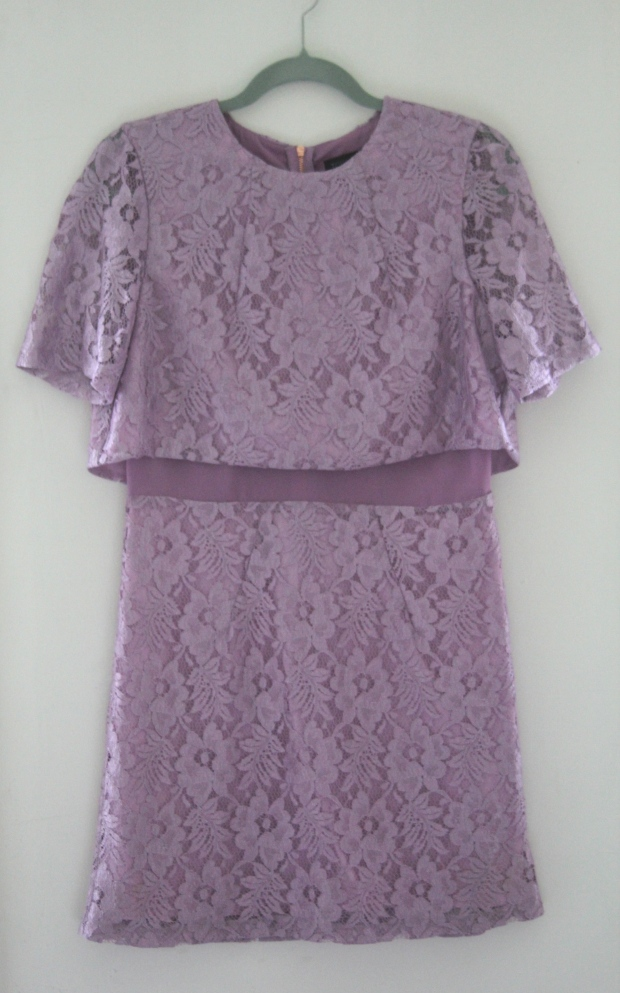 Lilac Lace Topshop 60s Dress - The Wishing Tree