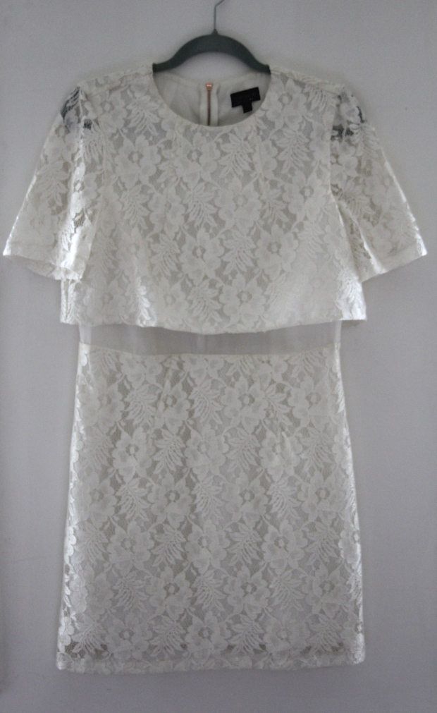 Cream Lace 60s Topshop Dress - The Wishing Tree