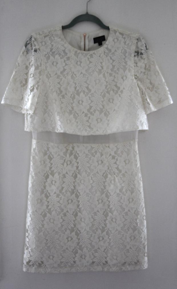 Cream Lace 60s Topshop Dress - The Wishing Tree