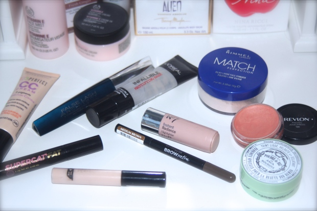 Frocks and Flowers UK Fashion and Lifestyle Blog Current Beauty Favourites Summer Makeup Bourjois CC Cream Soap and Glory Eyeliner L'oreal Mascara Revlon Cream Blush