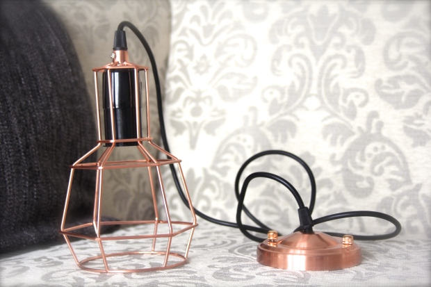 Cult furniture copper metal cage lights