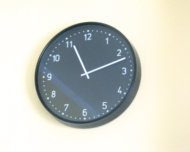 IKEA black retro clock