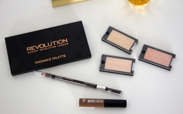 frocks and flowers frocks & flowers uk lifestyle blog beauty blog budget makeup haul makeup revolution radiance palette review makeup revolution review mua brow review