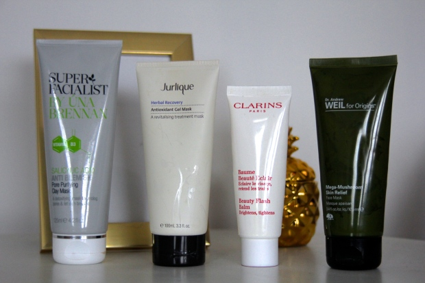 frocks and flowers uk lifestyle blog face mask recommendations una brennan pore purifying anti blemish face mask jurlique face mask clarins flash balm mega mushroom mask origins review