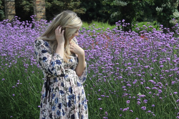 Frocks and Flowers Frocks & Flowers UK Lifestyle Blog UK Fashion Blog Boho Style Floral Midi Dress blonde hair gold crown richmond park kew gardens London blogger fashion blogger edinburgh blogger edinburgh fashion blogger scottish fashion blogger