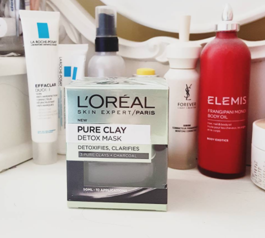 Tres Bien Edinburgh beauty blog l'oreal pure clay detox mask review l'oreal charcoal mask review